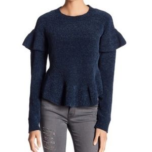 Melrose and Market Fitted Peplum Sweater
